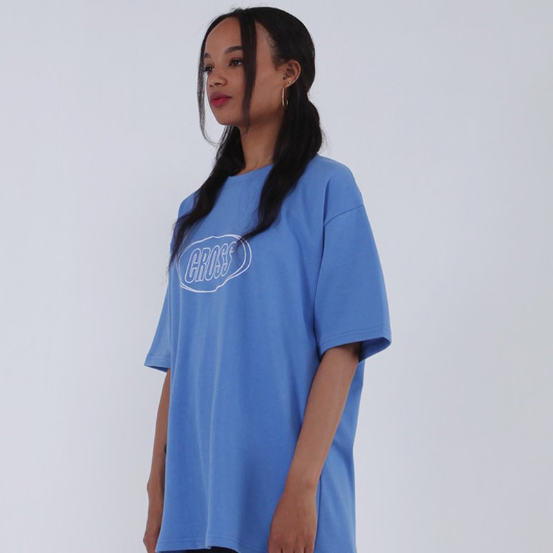 CIRCLE LOGO T-SHIRT_BABY BLUE