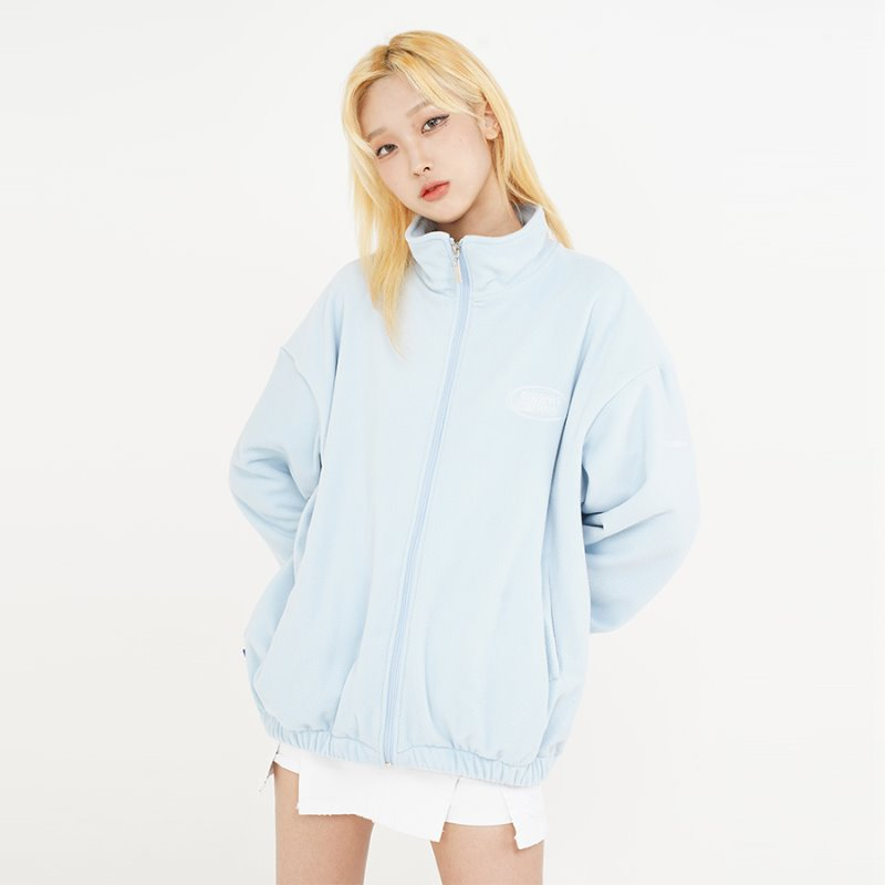 DOUBLE LOGO FLEECE_LIGHT BLUE