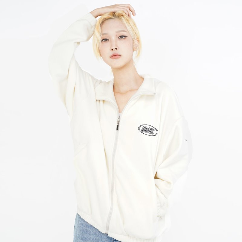 DOUBLE LOGO FLEECE_CREAM