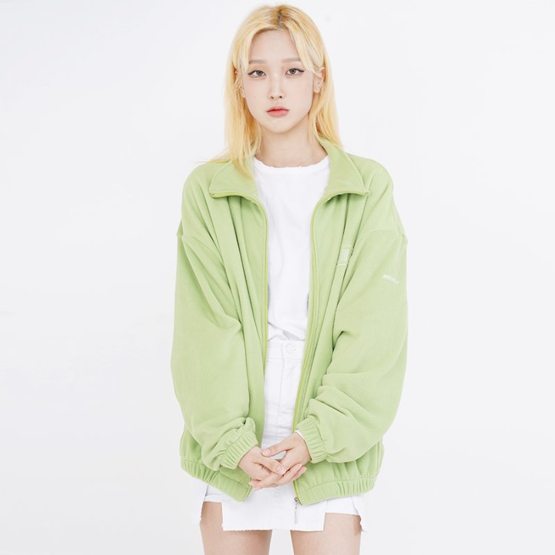 DOUBLE LOGO FLEECE_LIGHT GREEN