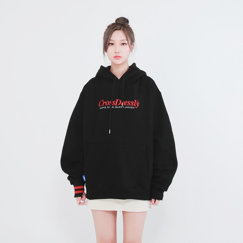 DOUBLE POINT VINTAGE HOODIE_BLACK