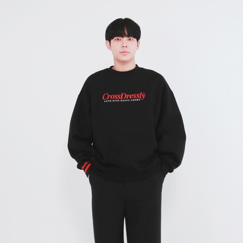 DOUBLE POINT VINTAGE SWEATSHIRTS_BLACK